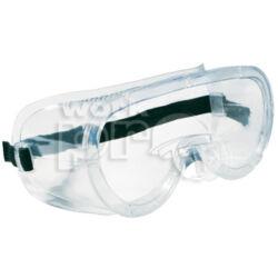 Monolux Védőszemüveg gumipántos, víztiszta acetát, szellőzőlyukakkal
