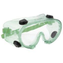 Chimilux Védőszemüveg gumipántos, vegyszerálló polikarbonát, oldalszellőző gombokkal eco