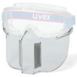Átlátszó polikarbonát arcvédő, mely minden Ultravision szemüvegre felszerelhető