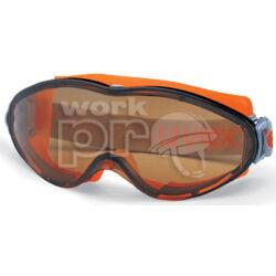 Uvex Ultrasonic gumipántos szemüveg, karc- és páramentes, vegyszerálló polikarbonát lencsével barna karc- és páramentes (HC-AF)