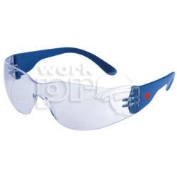 Classic védőszemüveg, karc- és páramentes polikarbonát lencse, oldalvédős kék szár, víztiszta