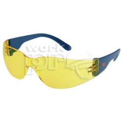 Classic védőszemüveg, karc- és páramentes polikarbonát lencse, oldalvédős kék szár, sárga