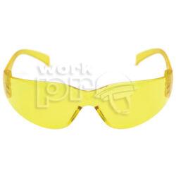 Virtua Védőszemüveg sárga lencséjű, ívelt polikarbonát, hallásvédőkhöz is