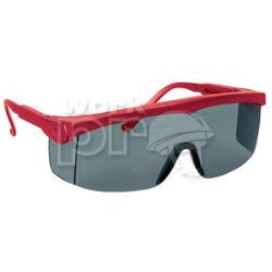 Pivolux Védőszemüveg piros keret, sötétített lencse, állítható, szürke