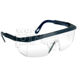 Ecolux Védőszemüveg kék keret, víztiszta látómező, állítható szárhossz