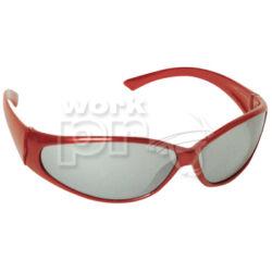 Speedlux Védőszemüveg piros keret, sötétített tükrös lencse