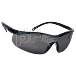 Astrilux Védőszemüveg sötét, karc- és páramentes lencse, fekete, állítható szárral, szürke