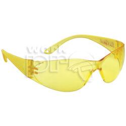 Pokelux Védőszemüveg polikarbonát, sárga lencse, karc- és páramentes