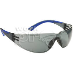 Starlux Védőszemüveg füstszínű keret és páramentes lencse, rugalmas, kék szárvég