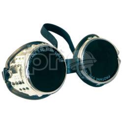 Alulux Védőszemüveg alumínium keret, cserélhető üveg, gumipánt, oldalszellőzés