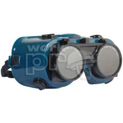 Revlux Eco Védőszemüveg felhajtható kerek lencse, hőálló műanyag keret, pormentes szellőzőgombok eco