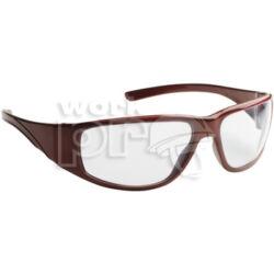Fairlux Védőszemüveg víztiszta karcmentes lencse, piros keret és oldalvédős szár