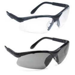 THETA védőszemüveg, víztiszta lencse, fekete rugalmas szár