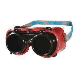 TOBA felhajtható hegesztő szemüveg, 5-ös árnyalat, piros