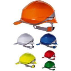 BASEBALL DIAMOND V OR BASEBALL DIAMOND ipari védősisak megfordítható fejkosárral, fényvisszaverő csíkkal, fluo