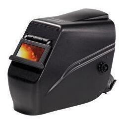 Hegesztő pajzs fejpánttal, felhajtható látómező, szűrőkkel (víztiszta és DIN 11) fekete