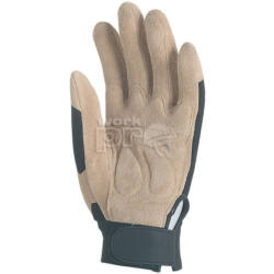 Sofőrkesztyű sertés velúrbőr, belső párnázat, PES kézhát, tépőzár, 8