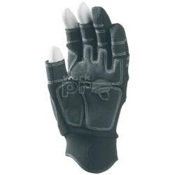 Kesztyű 3 ujján ujjvég nélküli sofőrkesztyű, szintetikus bőr (PA/PU), belső párnázat, állítható csukló, 8