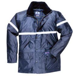 Perth Lite kabát, 2,5 cm fényvisszaverő csíkkal