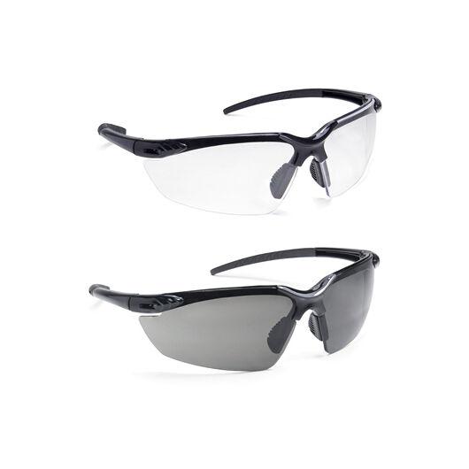 PSI védőszemüveg, víztiszta lencse, fekete szár és keret