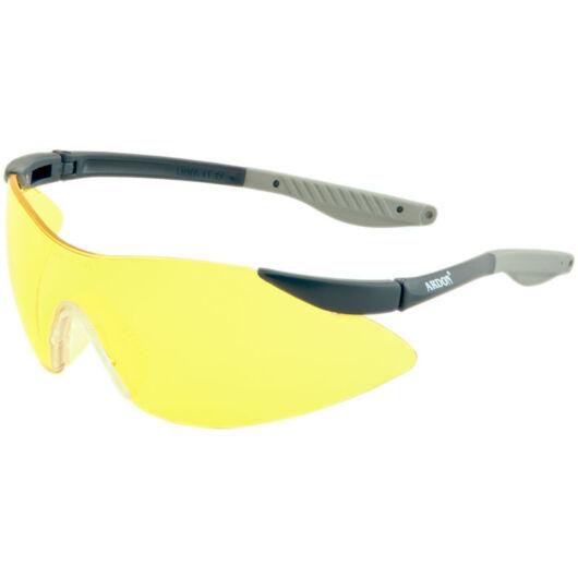V7300 védőszemüveg, karc- és páramentes, sárga lencse